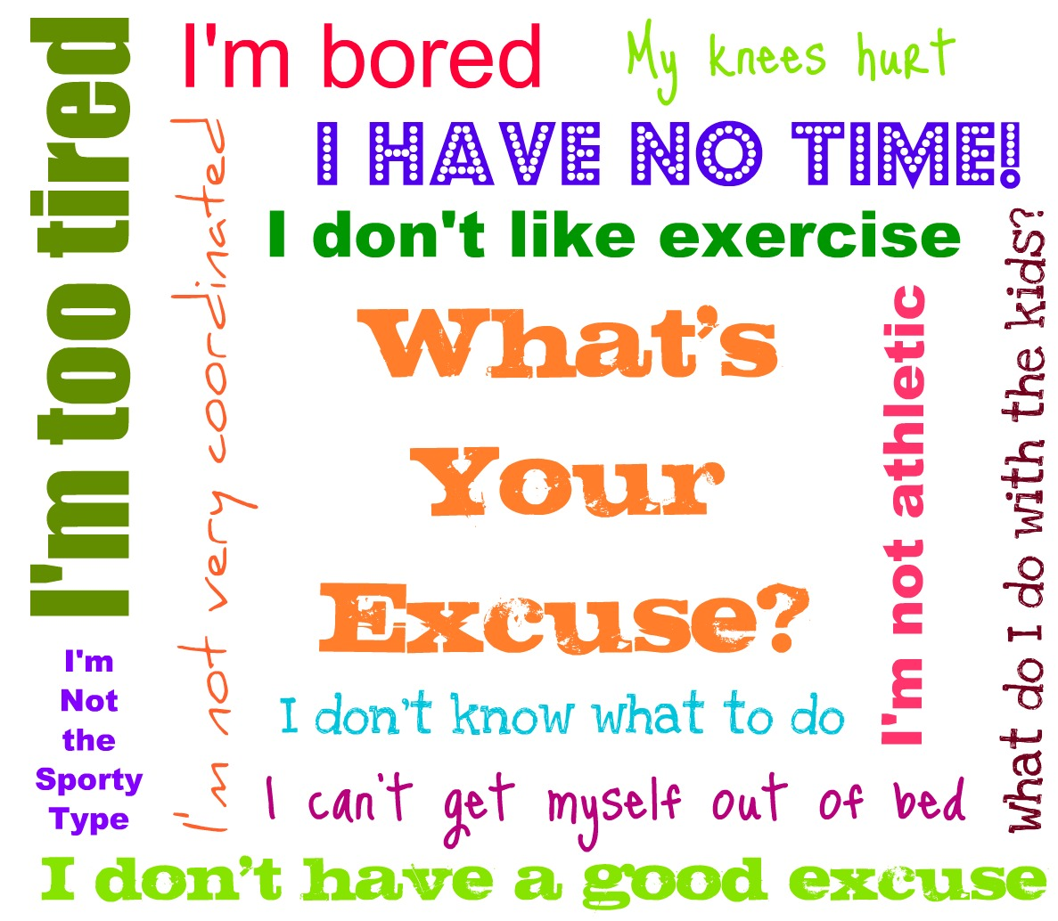 Overcoming excuses to exercise